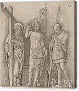 Risen Christ Between Saints Andrew And Longinus Acrylic Print
