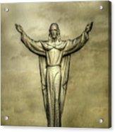 Risen Christ In Gold Acrylic Print
