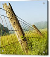 Rising Mist With Falling Fence Acrylic Print