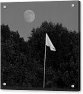 Rising Moon Black And White Acrylic Print