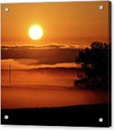 Rising Sun Lighting Ground Fog Acrylic Print