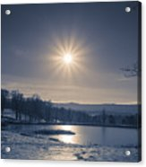 Rising Sun On A Cold Winter Morning Acrylic Print
