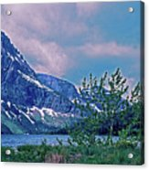Rising Wolf Mountain And Two Medicine Lake Acrylic Print