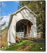 Ritner Creek Covered Bridge 0739 Acrylic Print