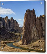 River And Rock Acrylic Print