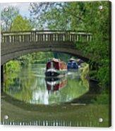 River At Harlow Mill Acrylic Print