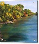 River At Hidden Acres 2. Acrylic Print