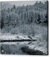River Bend Winter Acrylic Print