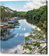 River Boats Docked Acrylic Print