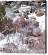 River Boulders Acrylic Print