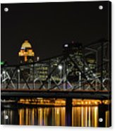 Ohio River Bridges And Louisville Skyline Acrylic Print