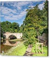 River Coquet Flows Under Warkworth Bridge Acrylic Print