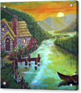 River Cottage Acrylic Print