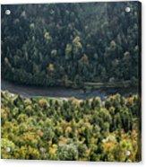 River Dunajec In Pieniny Mountains Acrylic Print