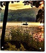 River Fishing  Acrylic Print