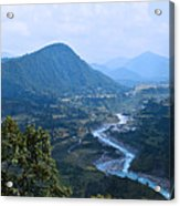 River  Flowing From Mountain Acrylic Print