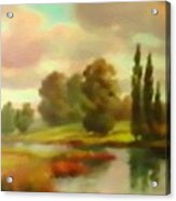 River Flowing Through The Landscape H B Acrylic Print