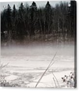 River Ice And Steam Acrylic Print