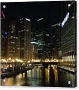 River In Chicago Acrylic Print