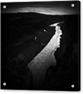 River In The Dark In Iceland Acrylic Print