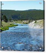 River In Yellowstone Acrylic Print