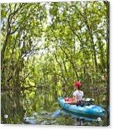 River Kayak Acrylic Print