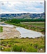 River Landscape In Northwest North Dakota  Acrylic Print