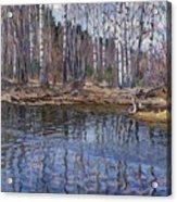 River Landscape Nikolai Petrovich Bogdanov-belsky Acrylic Print
