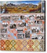 River Mural Autumn Panel Bottom Half Acrylic Print