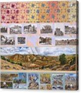 River Mural Autumn Panel Top Half Acrylic Print