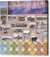 River Mural Summer Panel Bottom Half Acrylic Print