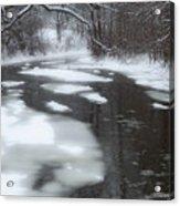 River Of Melting Ice Acrylic Print