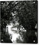 River Passage In Black And White Acrylic Print