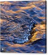 River Rapids At Sunset Acrylic Print
