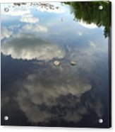 River Reflection Of Clouds Acrylic Print