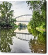 River Saale Bridge Near Dehlitz Acrylic Print