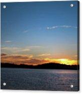 River Sun Set Acrylic Print