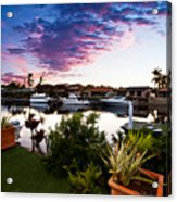 River Sunset Acrylic Print