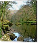 River Teign - P4a16010 Acrylic Print