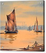 River Thames At Greenwich London Acrylic Print