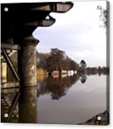 River Thames At Sandford. Acrylic Print by Mike Lester