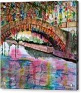 River Walk At Christmas Acrylic Print