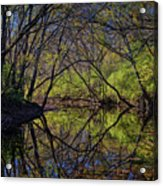 River Walk Reflections Acrylic Print