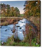 River Wansbeck At Wallington Acrylic Print