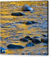 River Water And Rocks Acrylic Print