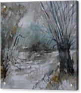 River Watercolor 711082 Acrylic Print