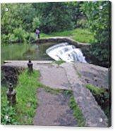 River Wye Weir Acrylic Print