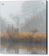 Riverbank In The Fog Acrylic Print