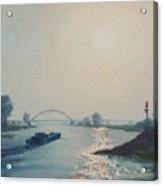 Riverbarge Acrylic Print