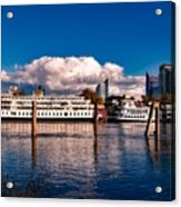 Riverboats Of Sacramento Acrylic Print